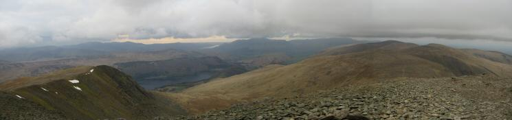 North westerly panorama from Helvellyn Lower Man's summit