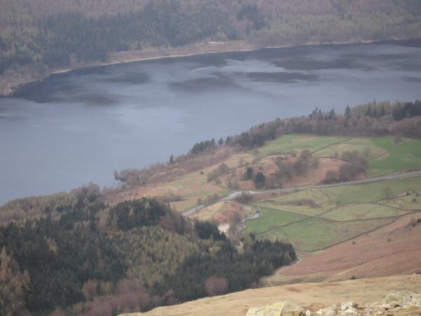 Looking down on Thirlmere and Swirls