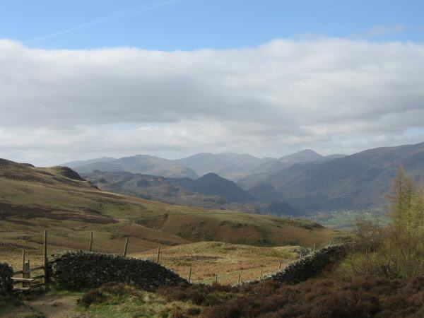 Looking south up Borrowdale from Walla Crag