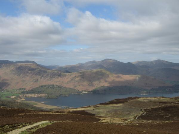 Catbells from the ascent of Bleaberry Fell