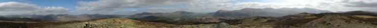 360 Panorama from Bleaberry Fell's summit