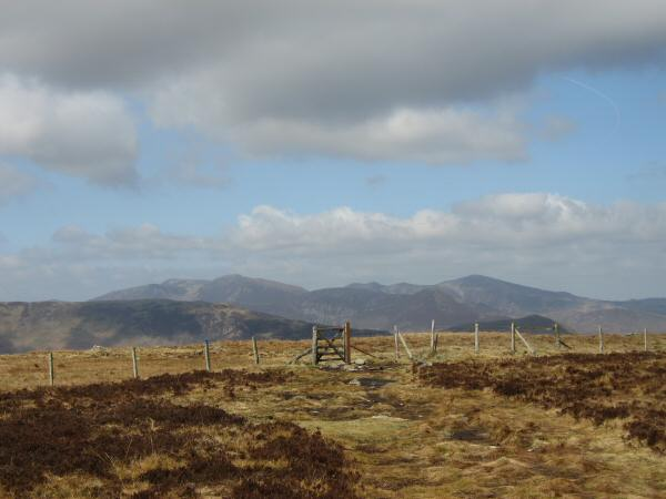 The north western fells from High Tove's summit