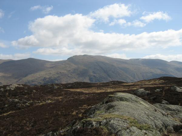 Helvellyn from Armboth Fell's summit