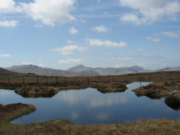 Great Gable from the small unnamed tarn on Long Moss