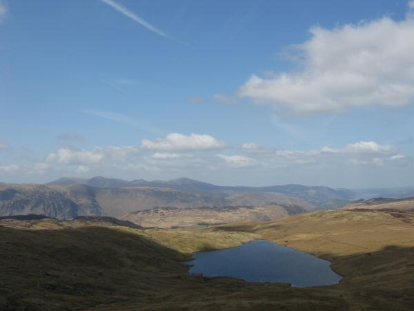 Blea Tarn and the north western fells from Standing Crag