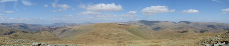 Northerly panorama from just below Low White Stones