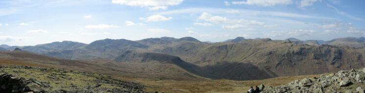 South westerly panorama from High Raise's summit