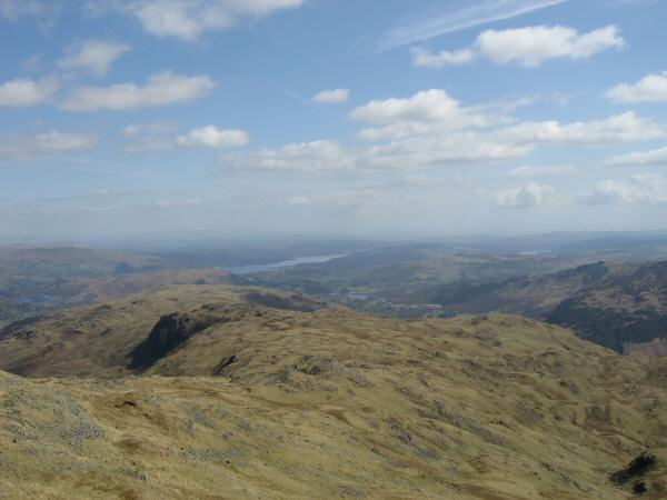 The Blea Rigg ridge from Sergeant Man's summit