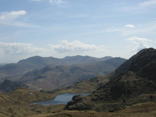 Stickle Tarn and the Coniston Fells