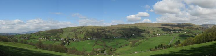 The village of Troutbeck on the slopes of Wansfell