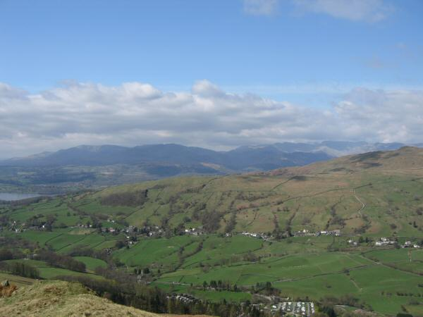 The Coniston and Langdale fells