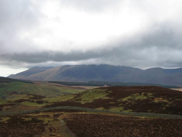 The top of Blencathra in cloud