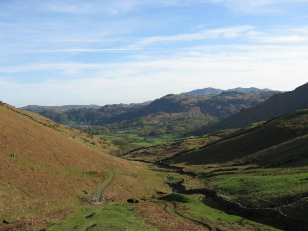 View back down the valley from the bottom of Little Tongue