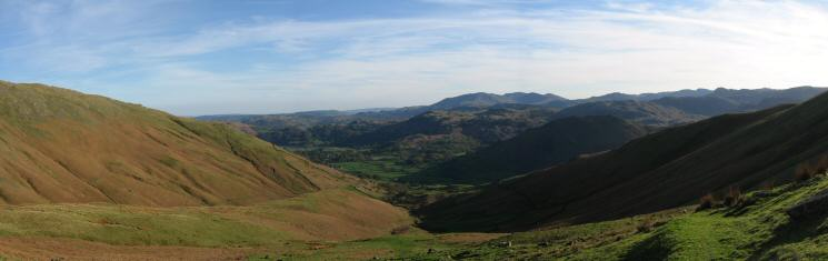 Southerly panorama from the top of Little Tongue