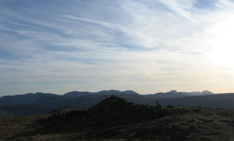 Crinkle Crags to Pillar from Seat Sandal's summit