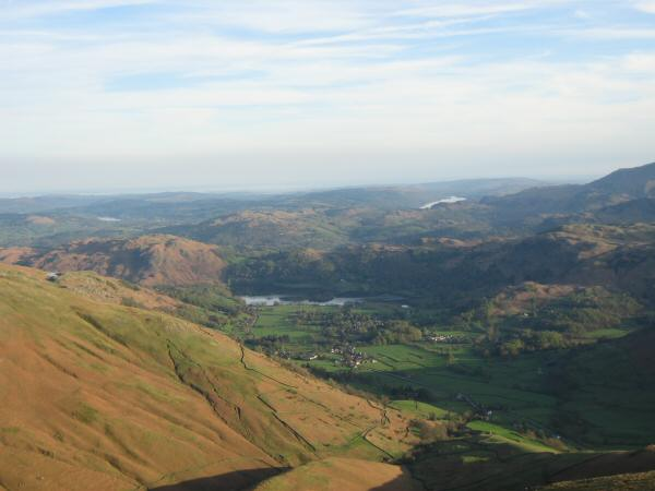 Grasmere from the top of Seat Sandal's south ridge