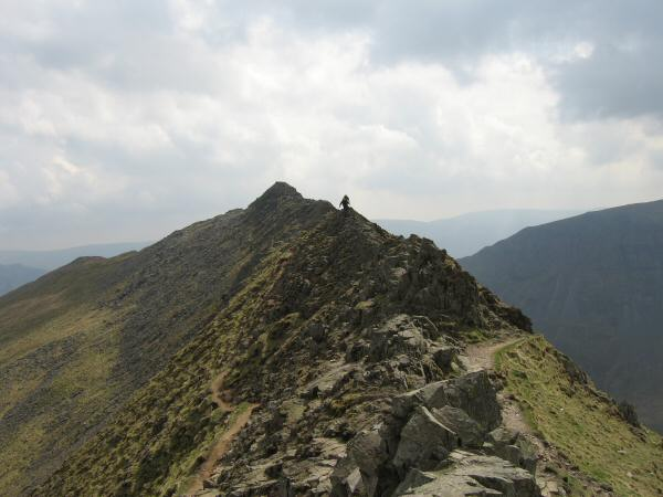 Looking back towards High Spying How from Striding Edge