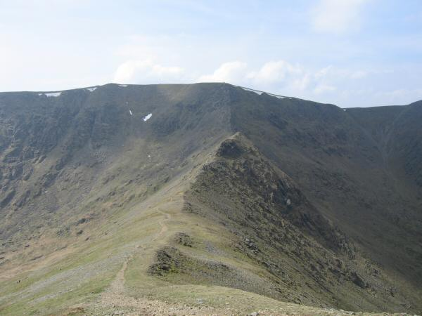 Swirral Edge from the ascent of Catstycam