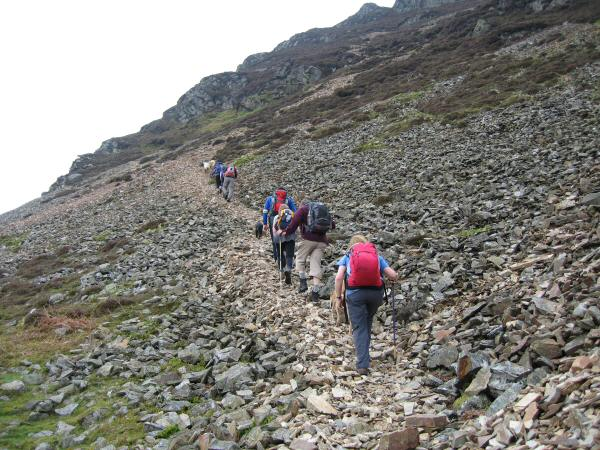 Starting the ascent to Mellbreak's north top