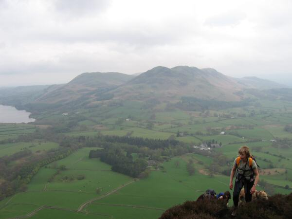 Darling Fell and Low Fell with Loweswater on the left from our ascent of Mellbreak