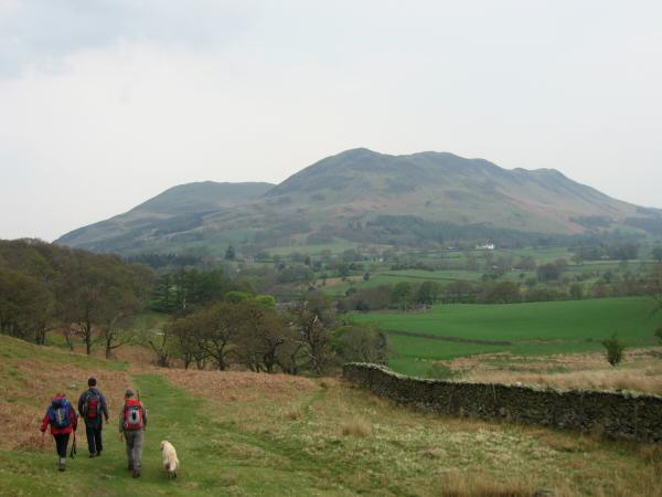Heading back to Lowpark with Low Fell ahead