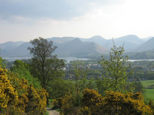 Catbells from the Cumbria Way on the flanks of Latrigg