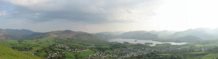 Southerly panorama from Latrigg