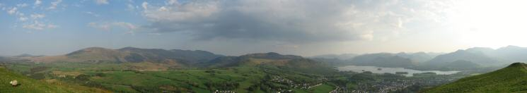 Southerly panorama from Latrigg's summit