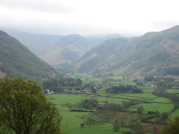 The Stonethwaite valley from the ascent of Castle Crag