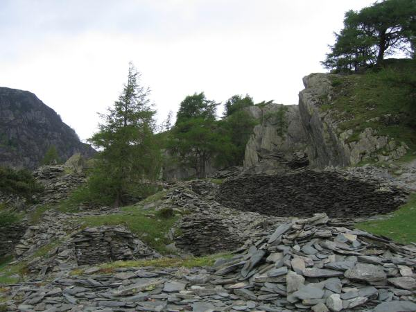 The old quarry near the summit of Castle Crag