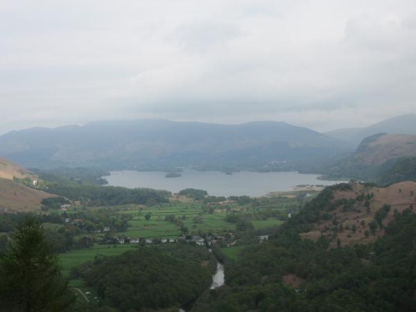 Derwent Water from Castle Crag's summit
