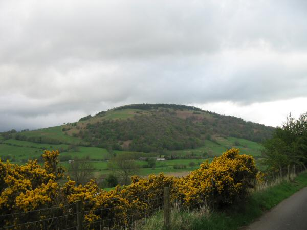 Great Mell Fell from the minor road between Lowthwaite and Nabend