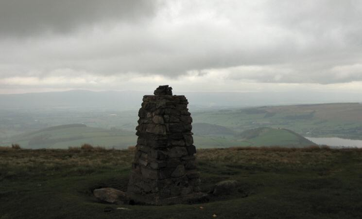 The trig point at Little Mell Fell's summit