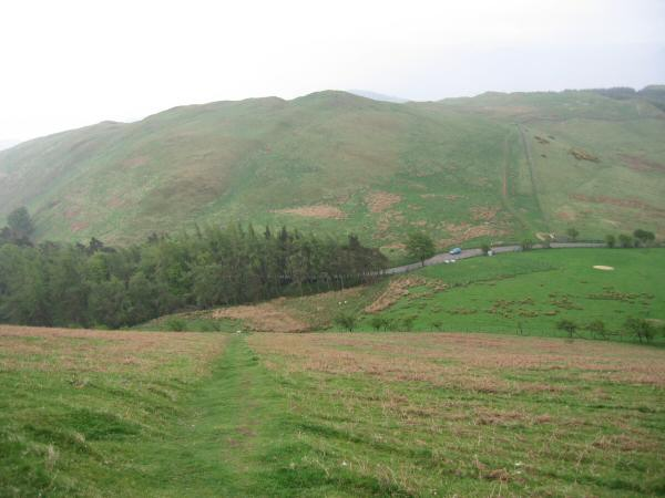 Looking down on The Hause from the descent off Little Mell Fell
