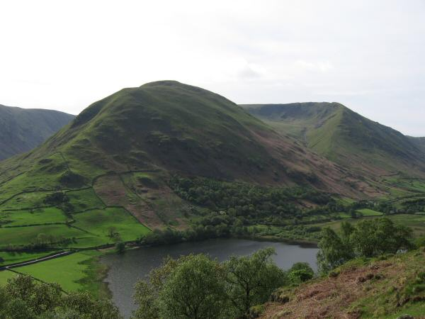 Looking over Brothers Water to Hartsop Dodd with Rough Edge on the right