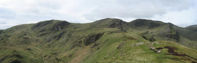 Dove Crag, Hart Crag and Fairfield from Hartsop Above How
