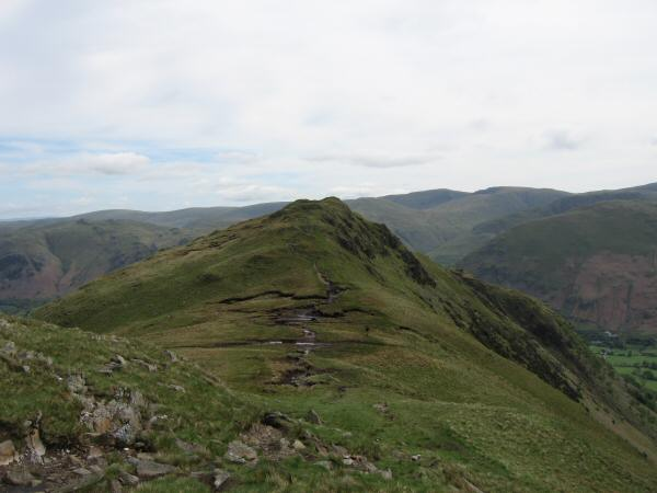 Looking back to Hartsop Above How from the ridge to Hart Crag