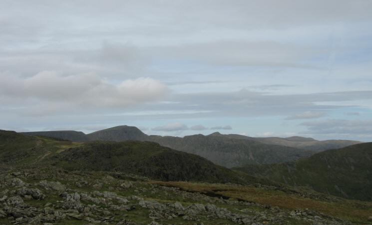 Helvellyn from Hart Crag's summit