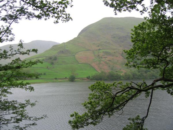 Looking across Brothers Water to Hartsop Dodd