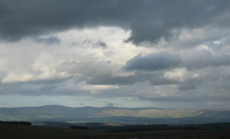 The North Pennine with left to right - Cross Fell, Little Dun Fell and Great Dun Fell