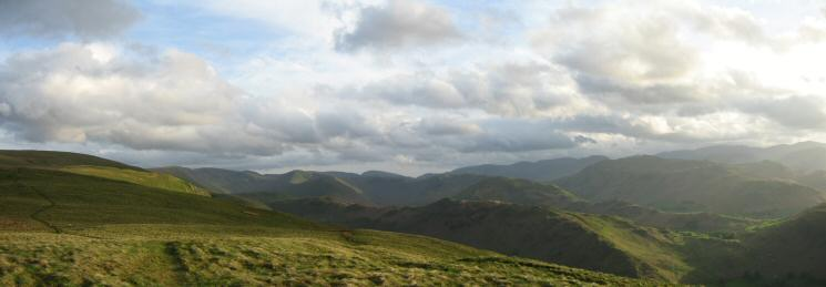 Southerly panorama from Bonscale Pike's summit