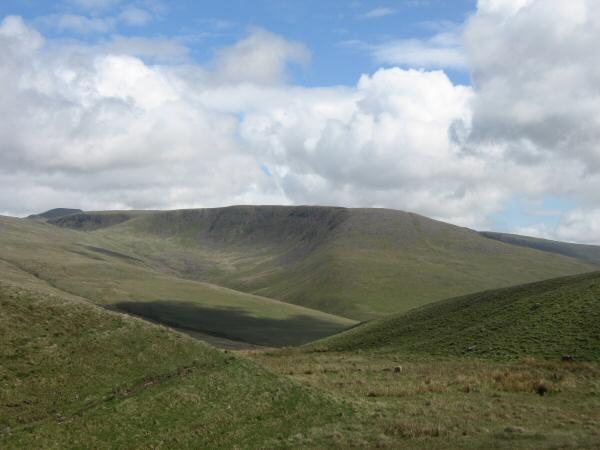 Caw Fell from the col between Whoap and Lank Rigg