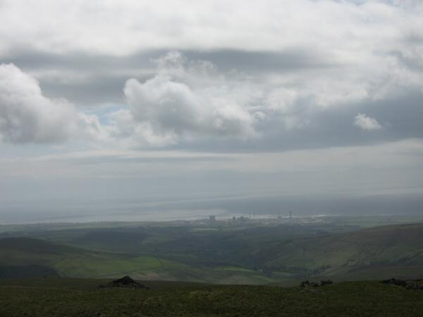 Sellafield and the Irish Sea from Lank Rigg's summit