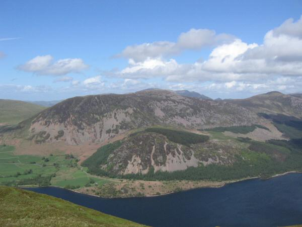 Looking across Ennerdale Water to Great Borne from Crag Fell's summit