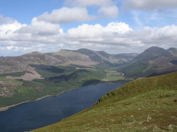 Ennerdale Water, Starling Dodd, the High Stile ridge and Pillar from Crag Fell's summit