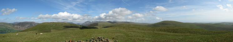 Easterly panorama from Grike's summit