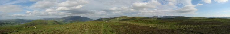 Southerly panorama from Ling Fell's summit