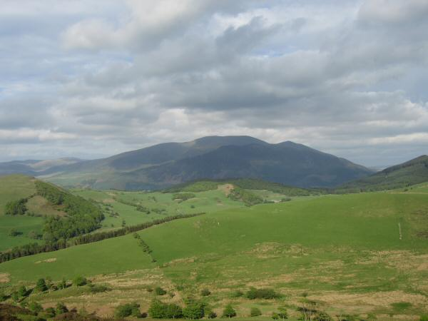 The Skiddaw fells from the descent off Ling Fell