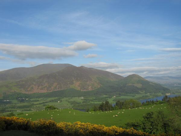 The Skiddaw fells from our ascent of Lothwaite