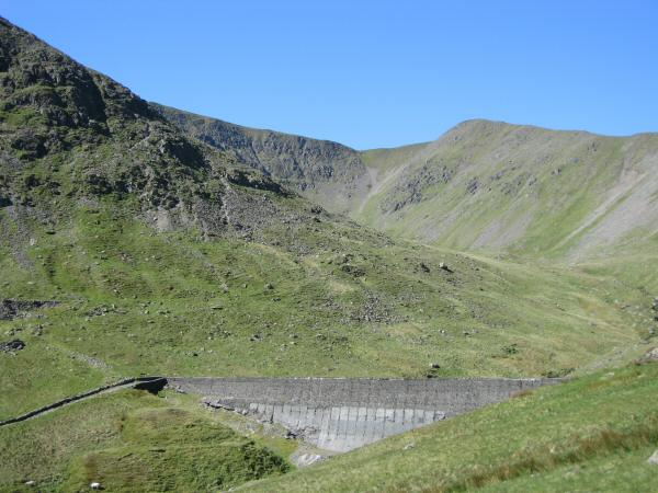 Keppel Cove Dam, the peak behind is White Side
